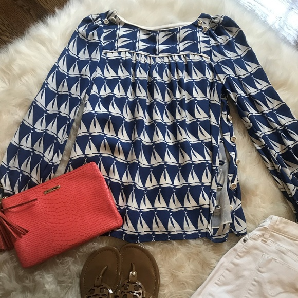 Milly of New York Tops - Milly NY Sailboat Blouse